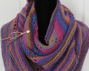 Merino Wool Shawl/Wrap Muted Rainbow *Free Shipping*