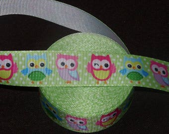 Ribbon green OWL grosgrain.