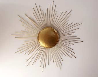 Decorative Starburst Mirror,Metal Wall Mirror,Wall Hanging Mirror in  Sunburst Shape (Sunburst