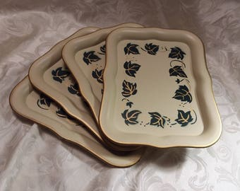Social Supper Trays   Set of 4