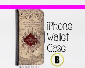 Harry Potter iPhone SE Case - Harry Potter iPhone SE Wallet Case - iphone SE case - iPhone se Wallet case (B)
