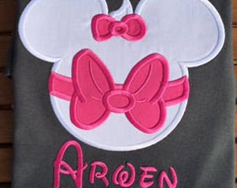 Marie Mickey Head Disney Family Shirts Mickey Applique Shirt Marie Disney Shirt