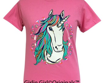 Girlie Girl Originals Western Unicorn Azalea Short Sleeve T-Shirt