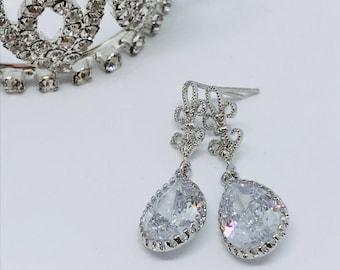 Glass Stone Stud earrings