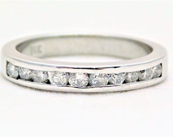 0.30ct Ladies 14k White Gold Diamond Wedding Band