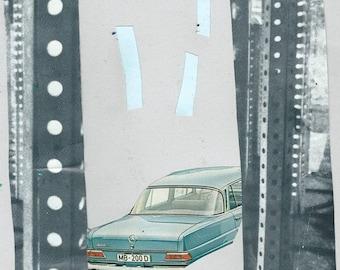 Car rain (original collage)