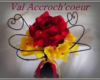 Flamenco wedding bouquet ring