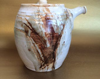 Unique Studio Made Vintage Pottery Teapot Coffee Coco Chocolate Pot
