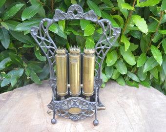 Vintage french deco unusual old heater  industrial decor art nouveau