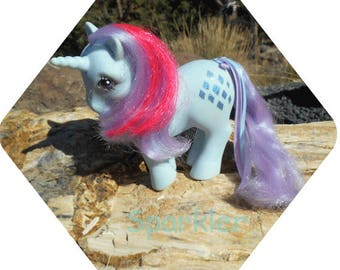 Glitter Symbol Unicorn My Little Pony ~*~ Sparkler ~*~ Vintage 80's Collectible