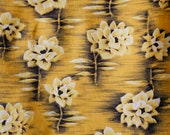 orange yellow golden hawaiian floral lightweight clothing cotton - vintage 40's 50's quilting clothes
