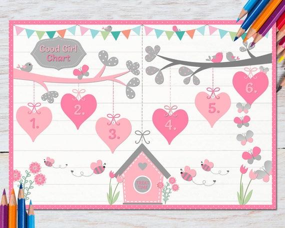 toddler reward chart girl back to school homework chore