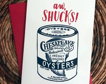 "Aw, Shucks! Greeting Card - Maryland Card - 4""x6"""