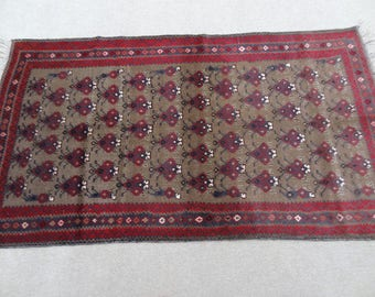 Size:6.5 ft by 3.8 ft Handmade Afghan tribal sennah Rug