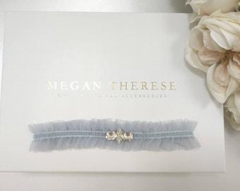 rhinestone garter, crystal garter, blue bridal garter, Blue garter, wedding garter, wedding garter set, rhinestone garters