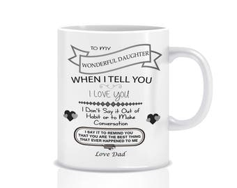 Dad to daughter  mug - Dad to daughter gifts - To My Wonderful Daughter ...