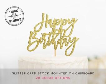 Happy Birthday Cake Topper, Birthday Cake Sign, Happy Birthday Decor, Birthday Cake Topper, Birthday Party Decor, Happy Birthday