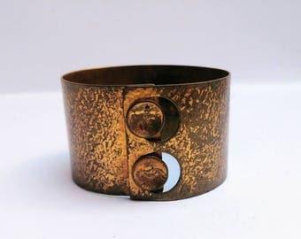 Vintage Dutch Menno Meijer designer cuff bracelet