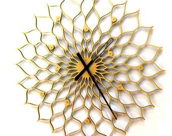 Horloge de tournesol gigantesque - horloge murale avec taille xxl