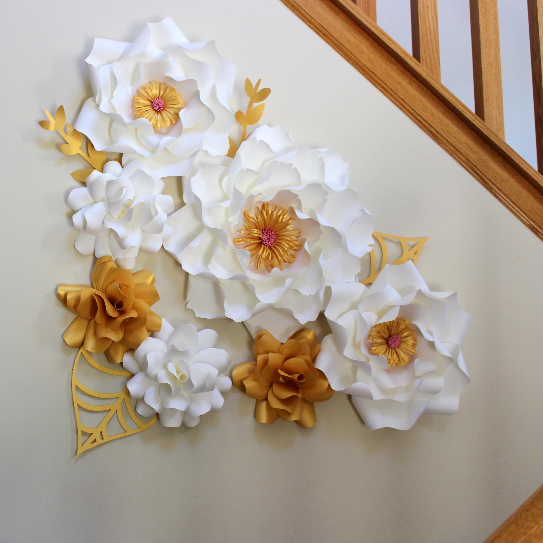 Paper Flower Backdrop Flower Wall Flower Backdrop Paper Flower