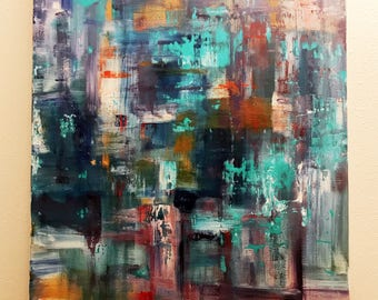 Abstract Acrylic on Canvas Painting