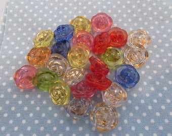 12mm Rose Buttons