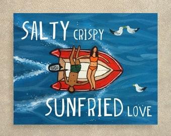 Salty love card