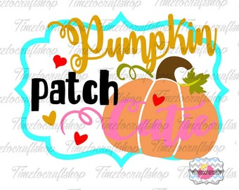 SVG, Eps, Dxf & Png Cutting Files For Pumpkin Patch Cutie Cricut and Silhouette cutting machines, Digital INSTANT DOWNLOAD