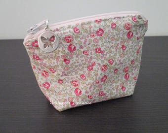 Coin purse in Liberty of London Eloise pink