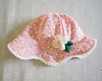 Baby Hat with Hair clip Set