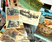 Mystery Postcard Collection Vintage 10 Unused Cards Travel Souvenir Destination Vacation Lot Wedding Shower Greeting