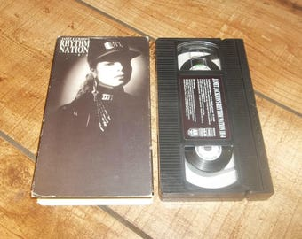Janet Jackson Rhythm NationVhs 1989, Black Cat, 1814, Miss You Much, Michael Jackson, Jimmy Jam and Terry Lewis, Minneapolis Sound, Prince