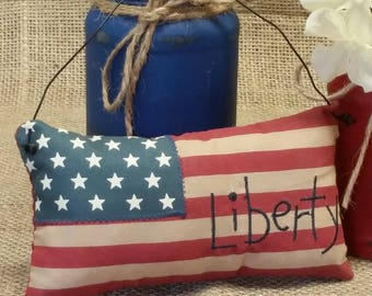 American Flag Pillow - 4th of July craft supply - 4th of July decor - Americana Decor - Primitive Decor - End of Summer Sale