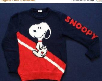 ON SALE 26% Vintage Snoppy Peanuts 150 sweater
