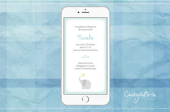 Digital invitation invitation baptism baby christening digital invitation invitation baptism baby christening whatsapp sms elephant stopboris Image collections