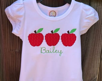 Apple Trio Applique Shirt