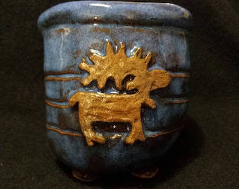 pottery moose cup 1