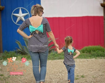 Mommy and Me Bow Back Top / Tunic Custom