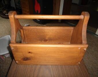 Vintage, Wood Box, Storage Box, Wine Storage, Wine Box, Wedding, Rustic, Magazine Rack, Primitive, French Country, Gift for him, Home Decor