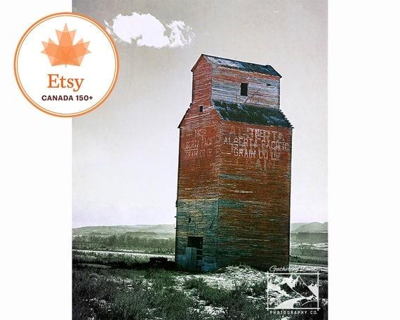 grain elevator etsyca150 canada 150 rustic prairie