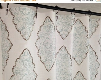 sale shower curtain fabric shower curtain monroe snowy blue grey long shower curtain extra wide shower