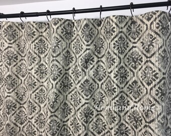 Custom Shower CurtainToba Graphite shades of beige brown 72 x 84 108 long shower curtain Extra wide shower curtain Fabric Shower Curtain