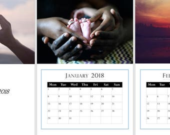 Love, Couples Photography 2018, A3 Wall Calendar, start any month, Buy 2 for 19.99!