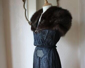 Sumptuous Vintage Fox Fur Bolero by British Furrier FK Bauer