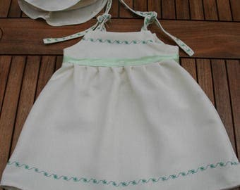 Dress and matching hat size 6 months