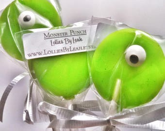 12 Monster Melon Lollipops
