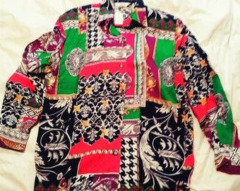 Ishyu vintage womens oversized blouse size 4