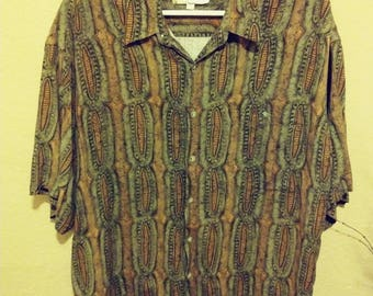 Vintag Campia Short Sleeve XL oversized button down mens big and tall