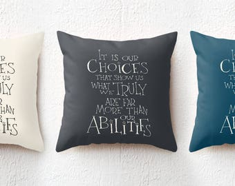 18x18 Harry Potter pillow - Albus Dumbledore quote throw pillow, saying decorative cushion cover dorm decor, holiday gift for boyfriend