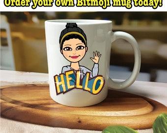 Bitmoji Mug, Custom Bitmoji Mug, Bitmoji Gift, Bitmoji